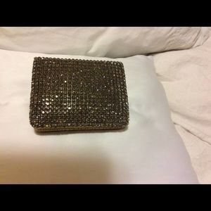 Deux Lux  Purple Black Swarovski Wallet